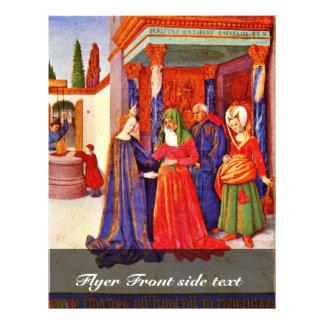 Visitação por Fouquet Jean (a melhor qualidade) Panfleto Personalizados