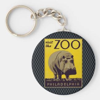 Visite o jardim zoológico!! chaveiro