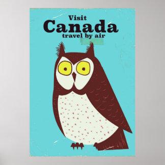 Visite o poster da coruja de Canadá