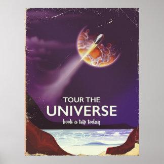 Visite o poster da ficção científica do vintage do