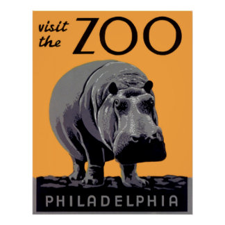 Visite o poster vintage de Philadelphfia do jardim