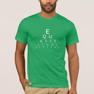 Visões da camisa da carta de olho da igualdade