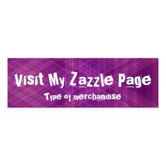 Vist minha página do zazzle (roxa) cartão de visita skinny