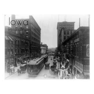 Vista 1910 do cartão do centro de Des Moines
