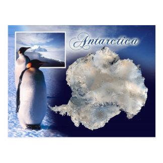 Vista aérea da Antártica Cartão Postal