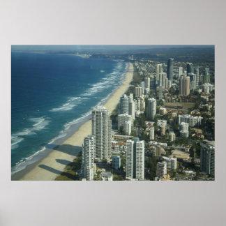 Vista aérea da praia pôster