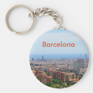 Vista aérea de Barcelona, espanha Chaveiro