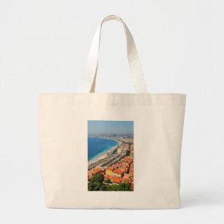 Vista aérea de Riviera francês em agradável, Bolsa Tote Grande
