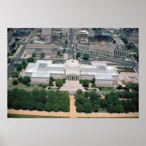 Vista aérea do National Gallery da arte Posteres