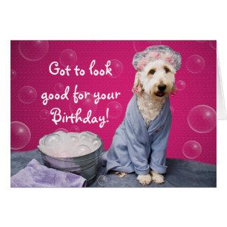 Vista bom para seu aniversário - a coleção de Kati Cartão Comemorativo