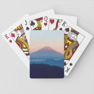 Vista bonita Monte Fuji, Japão, nascer do sol Cartas De Baralho