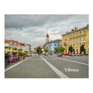 Vista da câmara municipal, Vilnius Lithuania Cartão Postal