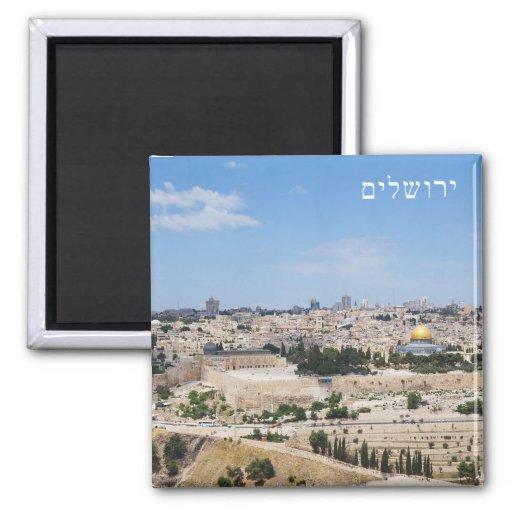 Vista da cidade velha de Jerusalem, Israel Imãs