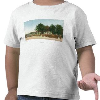 Vista da montagem de guarda Presidio na formação Camisetas