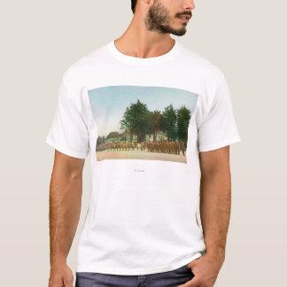 Vista da montagem de guarda Presidio na formação Camiseta