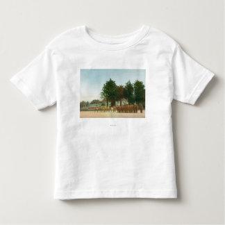 Vista da montagem de guarda Presidio na formação Camiseta Infantil