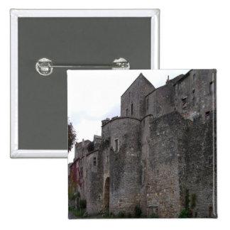 Vista da vila fortificada (foto) 3 bóton quadrado 5.08cm