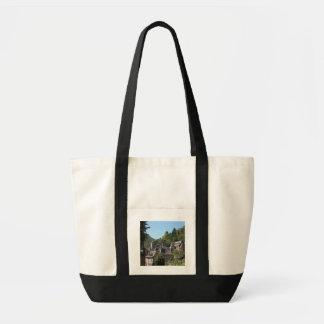 Vista da vila medieval (foto) bolsa de lona
