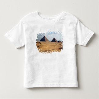 Vista das pirâmides de Cheops Camiseta Infantil