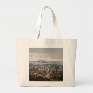 Vista de 1860) sacolas de San Francisco ( Bolsa Tote Grande
