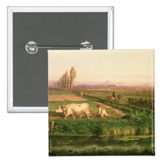 Vista de Carditello (óleo em canvas) Botons