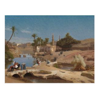 Vista de EL-Fayoum de Medinet Cartão Postal