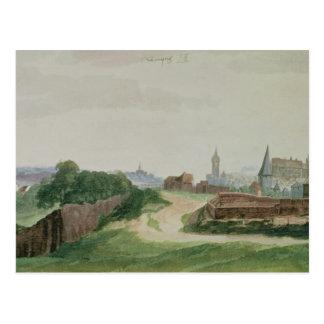 Vista de Nuremberg, 1496-97 Cartão Postal