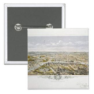 Vista de Paris do Bois de Boulogne Bóton Quadrado 5.08cm