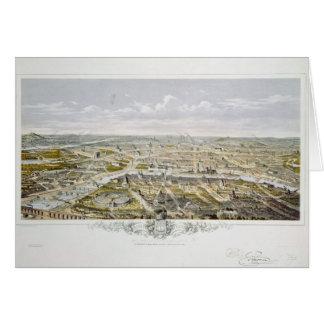 Vista de Paris do Bois de Boulogne Cartão Comemorativo