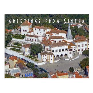Vista de Sintra no cartão de Portugal