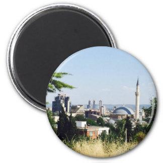 Vista de Skopje Ímã Redondo 5.08cm