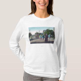 Vista de um ParadeHollister floral, CA Camiseta
