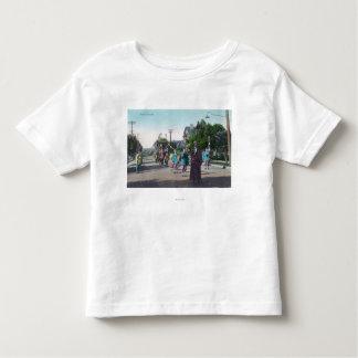 Vista de um ParadeHollister floral, CA Camiseta Infantil