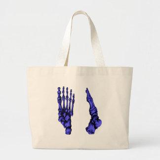 Vista dianteira e lateral dos ossos dos pés - azul bolsa para compra