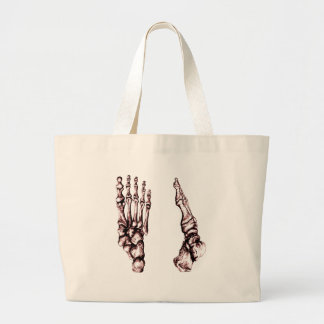 Vista dianteira e lateral dos ossos dos pés bolsa para compra