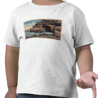 Vista do arco natural, angra esmeralda t-shirt