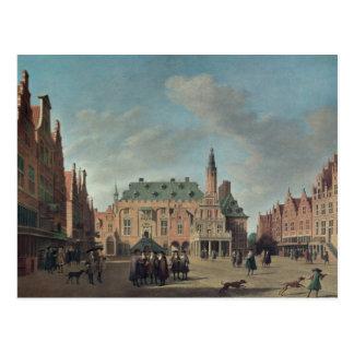 Vista do Grote Markt em Haarlem Cartão Postal