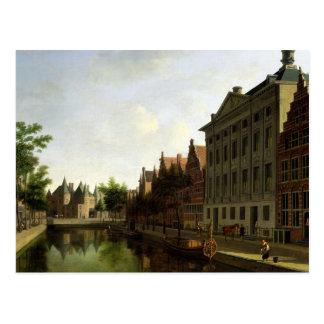 Vista do Kloveniersburgwal em Amsterdão Cartão Postal