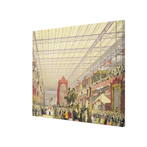 Vista do Nave estrangeiro da grande exposição o Impressão De Canvas Envolvida