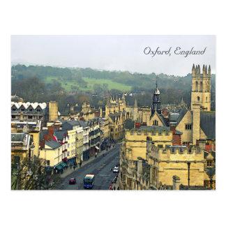 Vista fantástica, Oxford, Inglaterra, rua Cartão Postal