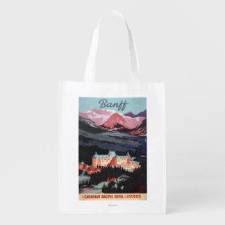 Vista geral do poster de Banff Springs Hotel Sacolas Reusáveis