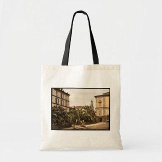 Vista geral, vintage Photochrom de San Remo, Rivie Bolsa Para Compras