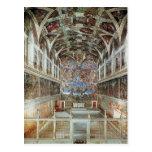 Vista interior da capela de Sistine Cartões Postais