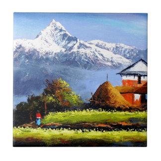 Vista panorâmica da montanha bonita de Everest