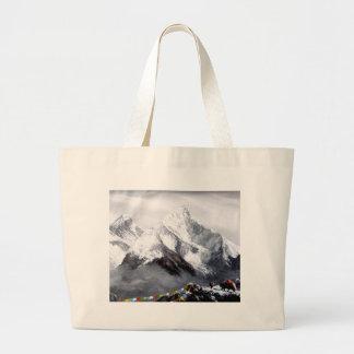 Vista panorâmica da montanha de Everest Bolsa Tote Grande