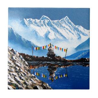 Vista panorâmica da montanha Nepal de Annapurna