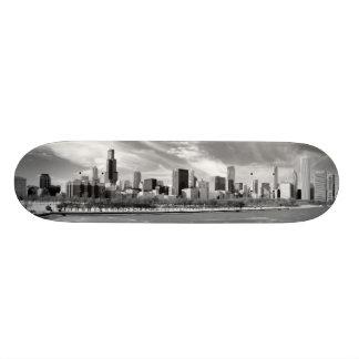 Vista panorâmica da skyline de Chicago no inverno Shape De Skate 18,7cm