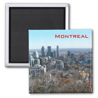Vista panorâmica de Montreal Ímã Quadrado