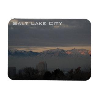 Vista panorâmica de Salt Lake City com inversão Foto Com Ímã Retangular