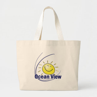 Vista para o mar bolsa para compras